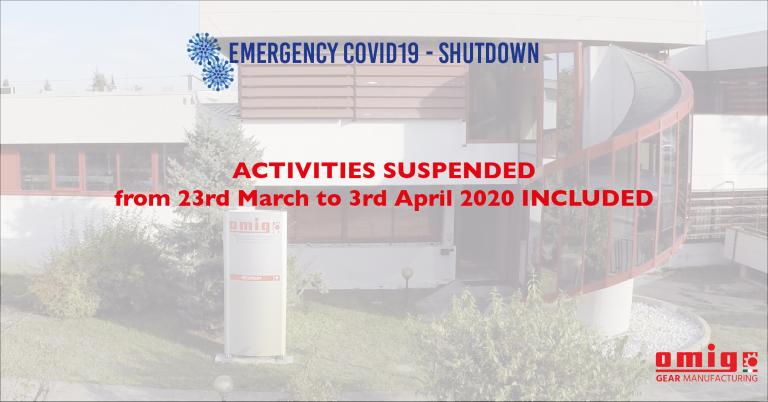 COVID19 - Shutdown